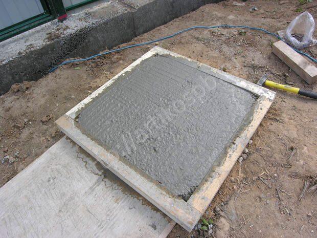 Процесс изготовления тротуарной плитки своими руками